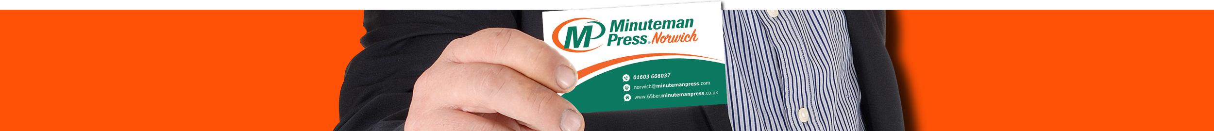 Business Cards Banner | Minuteman Press Norwich