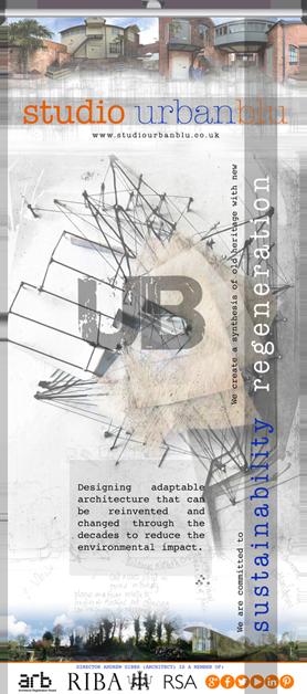 Roller banner for Studio Urbanblu