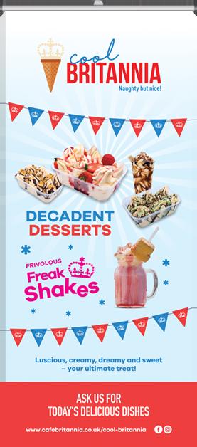 Roller banner for Cool Britannia Decadent Desserts