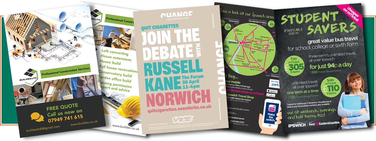 Flyers & Leaflets | Minuteman Press Norwich