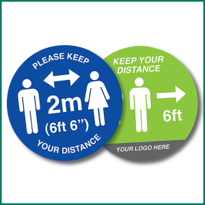 Floor Warning Sign Circle 2m Distance | Design 1 by Minuteman Press