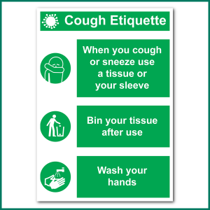 Cough Etiquette A4 Wall Sticker from Minuteman Press in Norwich