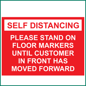 SELF DISTANCING Advice Wall Sticker from Minuteman Press in Norwich