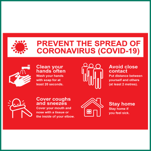 Prevent The Spread Of Coronavirus Wall Sticker from Minuteman Press