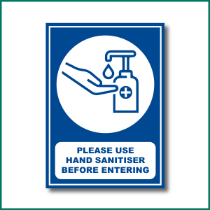 Hand Sanitise Before Entering Warning Sign from Minuteman Press