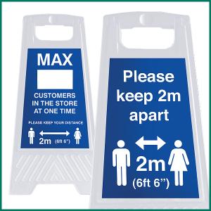 "2 meter ""A"" Board warning signs"