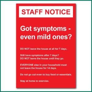 Staff Notice Wall Sticker from Minuteman Press in Norwich
