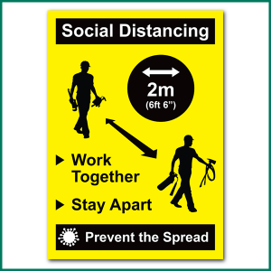 Social Distancing Wall Sticker from Minuteman Press in Norwich