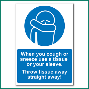 Cough or Sneeze Advice A4 Wall Sticker from Minuteman Press Norwich