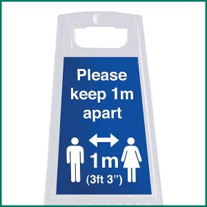 "1 meter ""A"" Board warning signs"