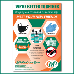 We're better together information poster (Design 2) by Minuteman Press Norwich