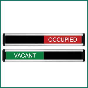 Vacant/Occupied Sliding Door Sign | Green/Red Addition
